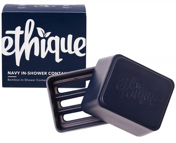 Ethique Bamboo & Cornstarch Shower Container Navy