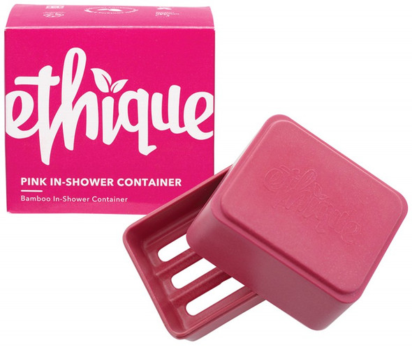 Ethique Bamboo & Cornstarch Shower Container Pink