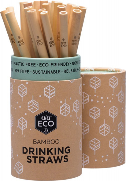 Ever Eco Bamboo Straws Counter Display 30-Pack