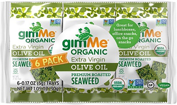 Gimme Roasted Seaweed Snacks Olive Oil 5g (Carton of 6)
