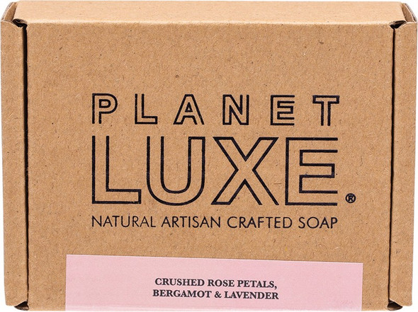 Planet Luxe Natural Artisan Crafted Soap Rose Petal 130g