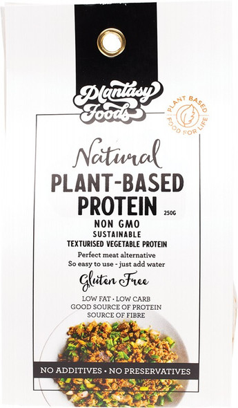 Plantasy Foods Plant-Based Protein Natural Non-Gmo Meat Alternative 250g