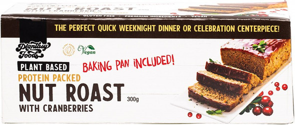 Plantasy Foods Nut Roast With Cranberries Includes Baking Pan 300g
