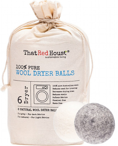 That Red House Wool Dryer Balls 100% Pure X 6