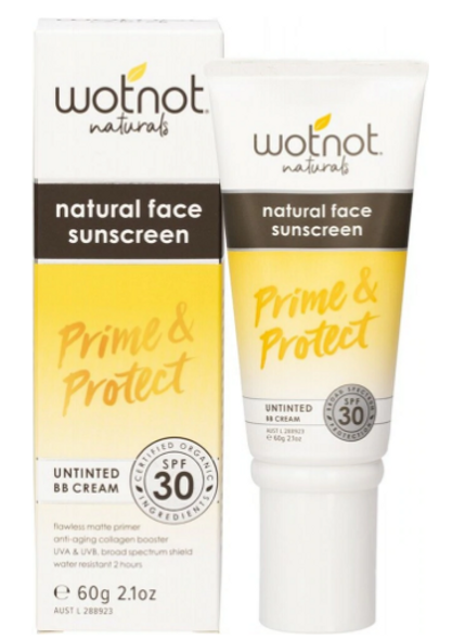 Wotnot Natural Face Sunscreen 30 SPF Untinted BB Cream 60g