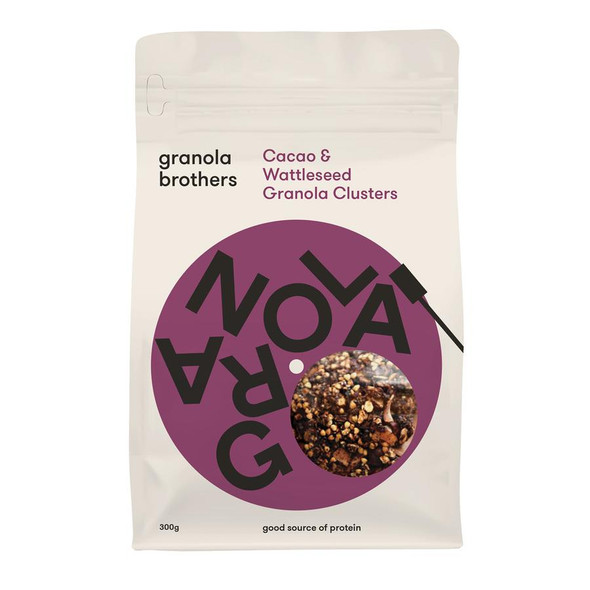 Granola Brothers Cacao & Wattleseed Granola Clusters 300g x 8
