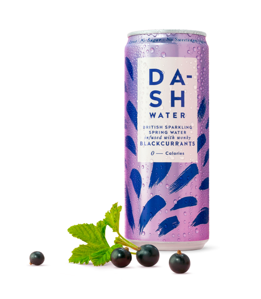 Dash Water Blackcurrant 330ml x 24 Cans