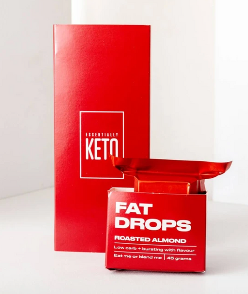 Essentially Keto Low Carb Cookie Fat Drops Roasted Almond 45gx6 (Box of 6)