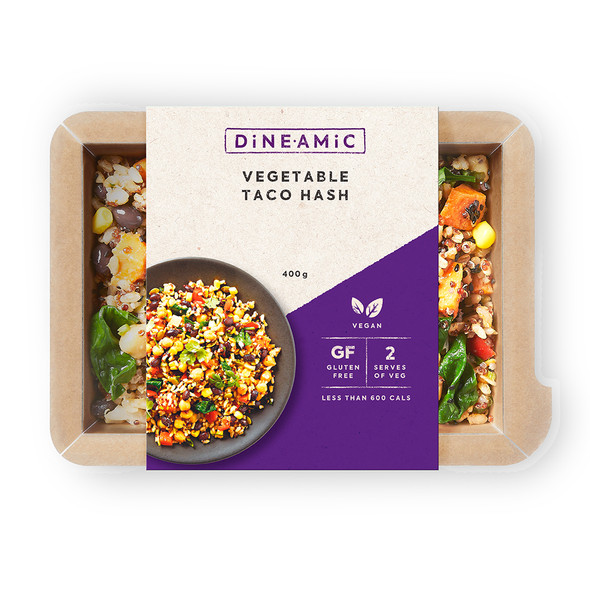 Dineamic Meal Vegetable Taco Hash 400g (Carton of 5)
