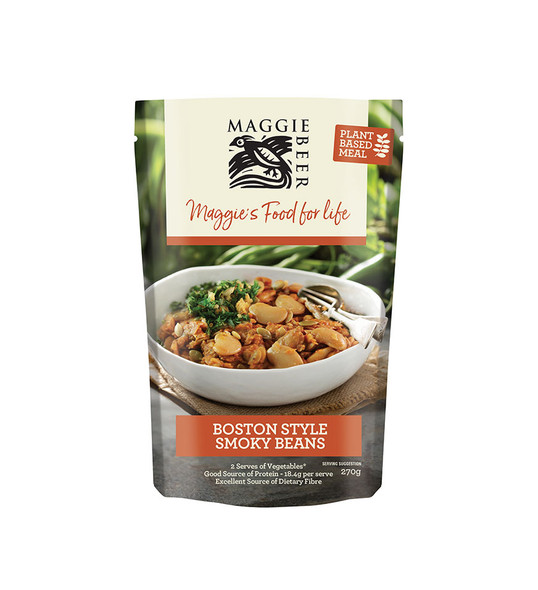 Maggie Beer Plant Based Meals - Boston Smoky Beans 270g (Carton of 6)
