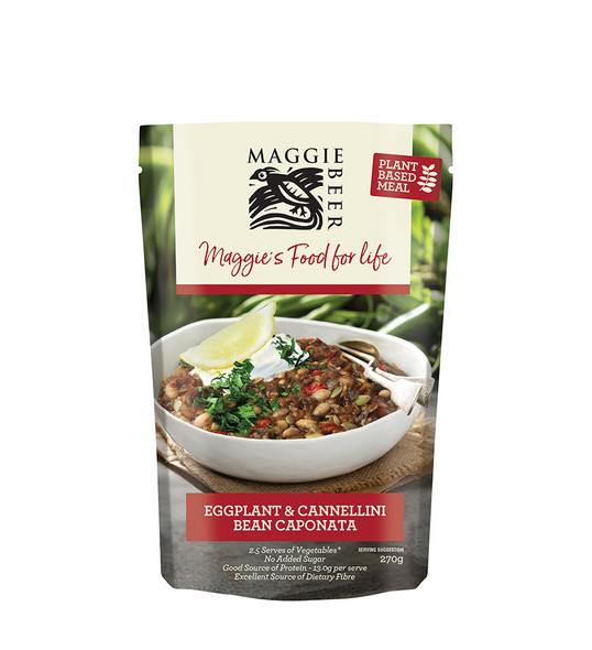 Maggie Beer Plant Based Meals - Eggplant & Bean Caponata 270g (Carton of 6)