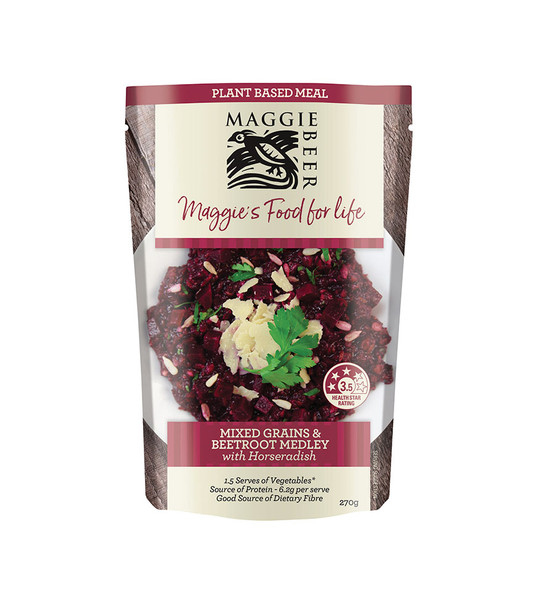 Maggie Beer Plant Based Meals - Mixed Grain & Beetroot 270g (Carton of 6)