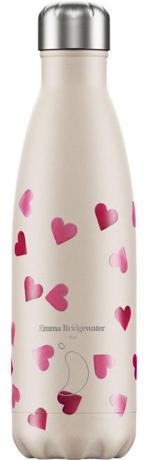 Chilly's 500ml Water Bottle - Emma Bridgewater - Pink Hearts
