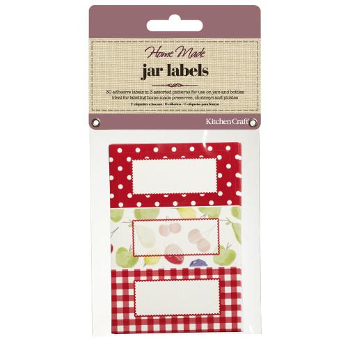 Pack of 30 Jam Jar Labels