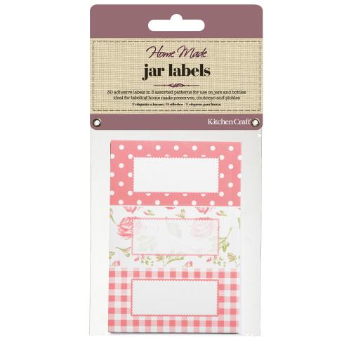 30 Jam Jar Labels - Roses