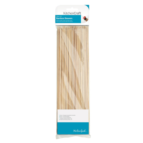 KitchenCraft 30cm Bamboo Skewers Pack of 100