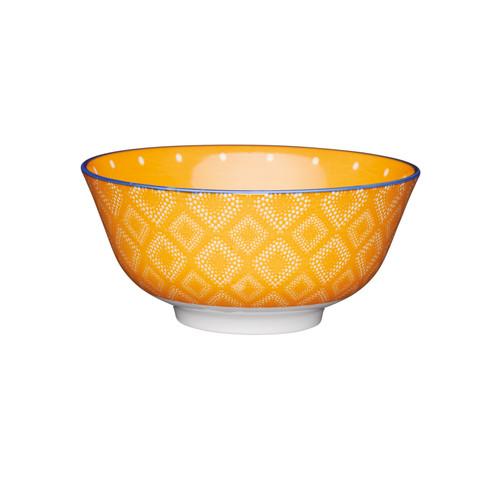 KitchenCraft Orange Spotty Ceramic Bowl