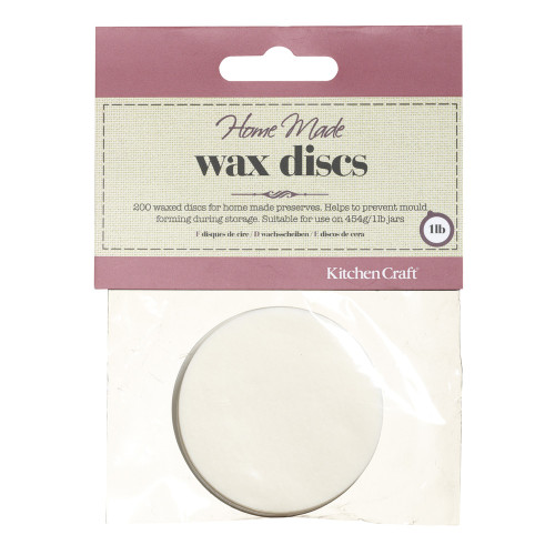 Kitchencraft Pack of 200 Waxed Circles / Discs for 454ml Jars