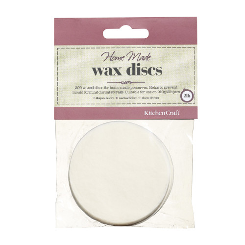Kitchencraft Pack of 200 Waxed Circles / Discs for 908ml Jars