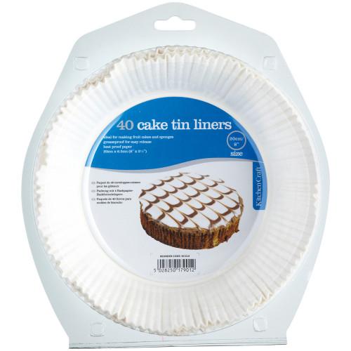 20cm Cake Tin Liners x40