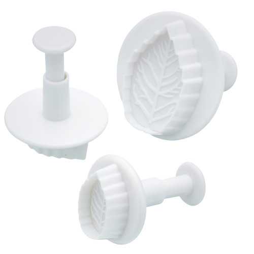 Sweetly Does It Set of 3 Leaf Fondant Plunger Cutters