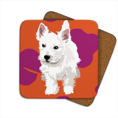Coaster - Westie Puppy