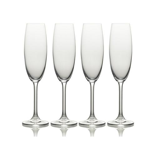Mikasa Julie Set Of 4 8Oz Champagne Flute Glasses