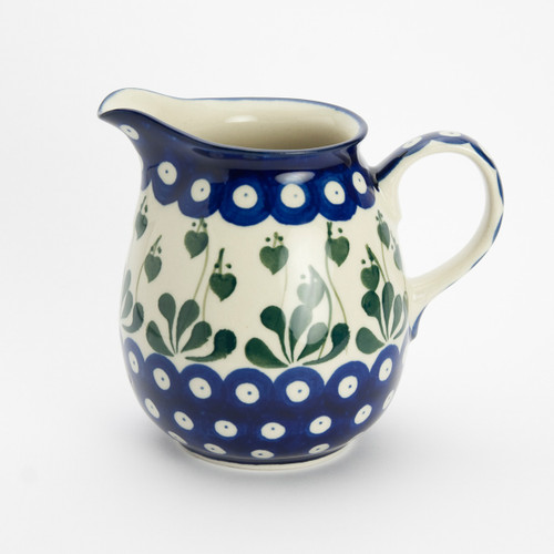Polish Pottery 0.5 Litre Jug Love Leaf