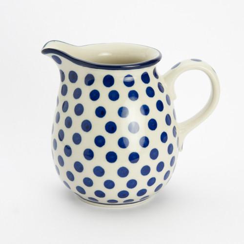 Polish Pottery 0.5 Litre Jug Small Blue Dot
