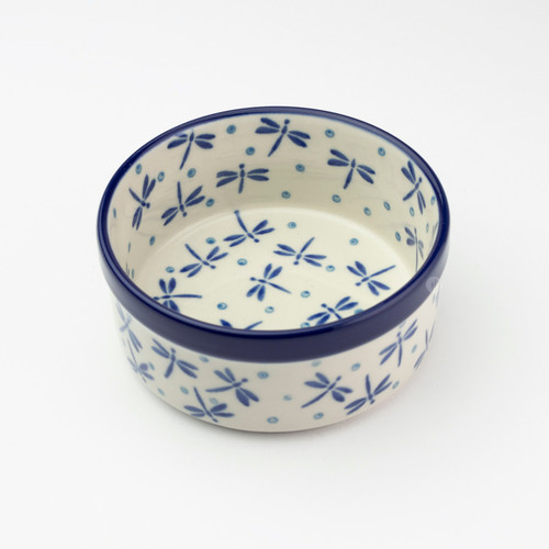 Polish Pottery 10cm Ramekin - Dragonfly