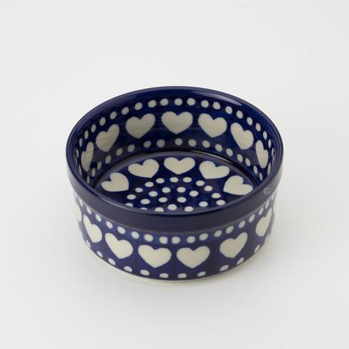 Polish Pottery 10cm Ramekin - Heart to Heart