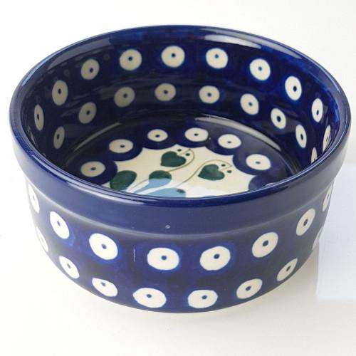 Polish Pottery 10cm Ramekin - Love Leaf