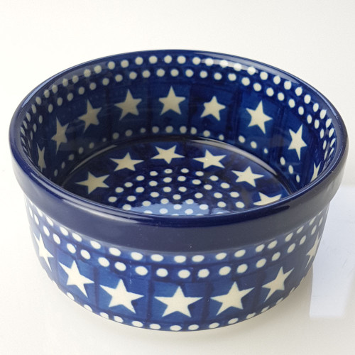 Polish Pottery 10cm Ramekin - Midnight Star