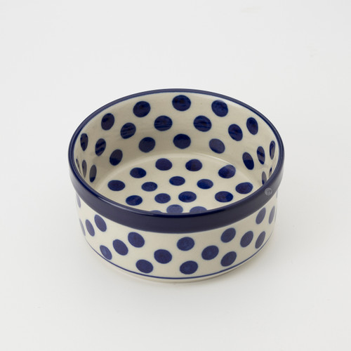 Polish Pottery 10cm Ramekin - Small Blue Dot