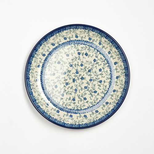 Polish Pottery 20cm Plate Forget-me-not