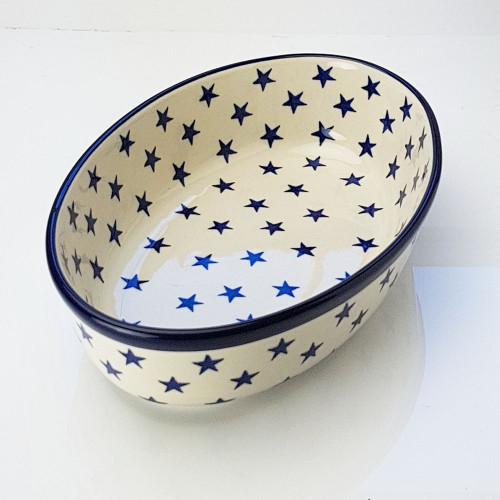 Polish Pottery 24cm Oval Dish Morning Star