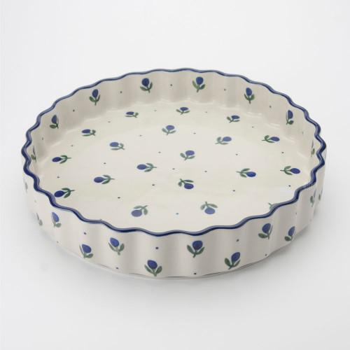 Polish Pottery 24cm Quiche Dish Sloeberry