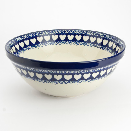 Polish Pottery 24cm Serving Bowl Light Hearted