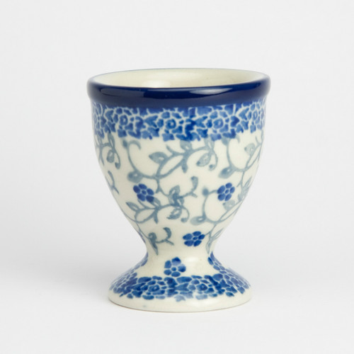Polish Pottery Egg Cup - Forget-me-not