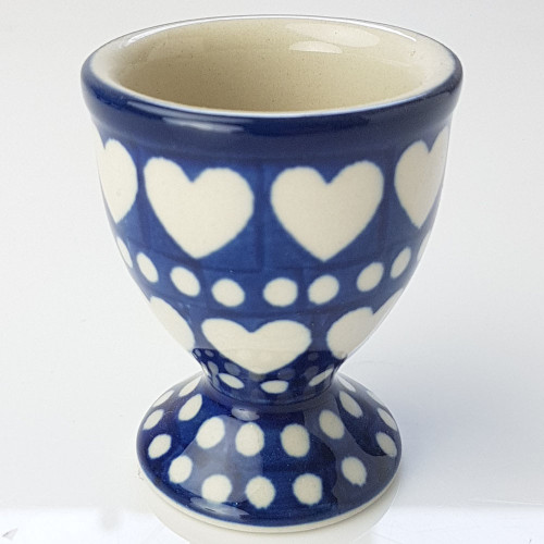 Polish Pottery Egg Cup - Heart to Heart