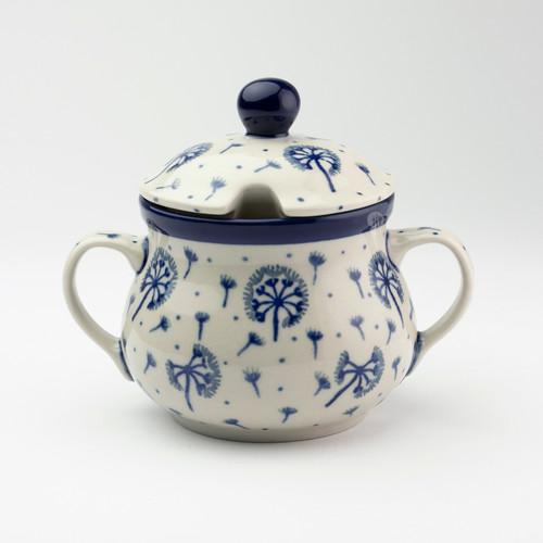 Polish Pottery Sugar Bowl - Dandelion