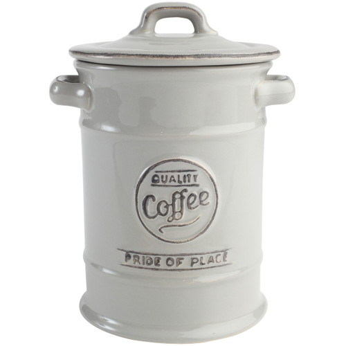T&G Woodware Pride Of Place Coffee Jar Grey