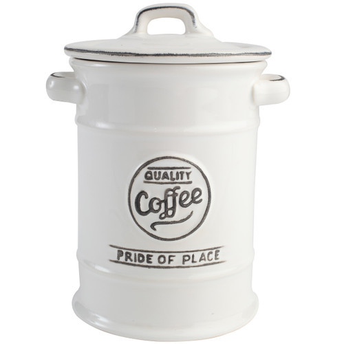 T&G Woodware Pride Of Place Coffee Jar White