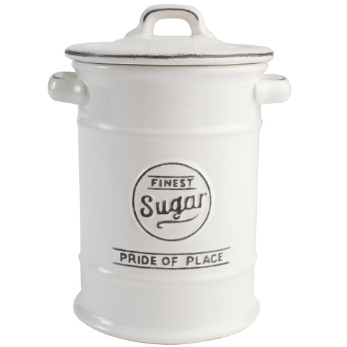 T&G Woodware Pride Of Place Sugar Jar White