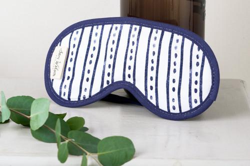 Sam Wilson Navy Stripe Dash Eye Mask