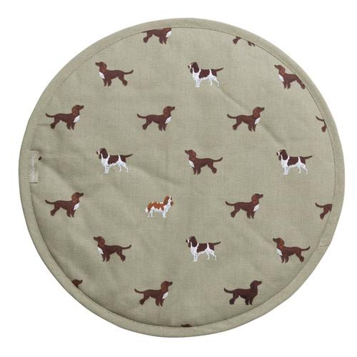 Circular Hob Cover - Spaniels