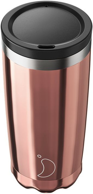 Chillys 500ml Chrome Rose Gold Coffee Cup