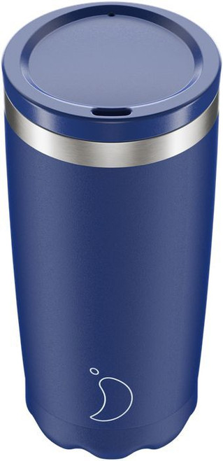 Chillys 500ml Matte Blue Coffee Cup
