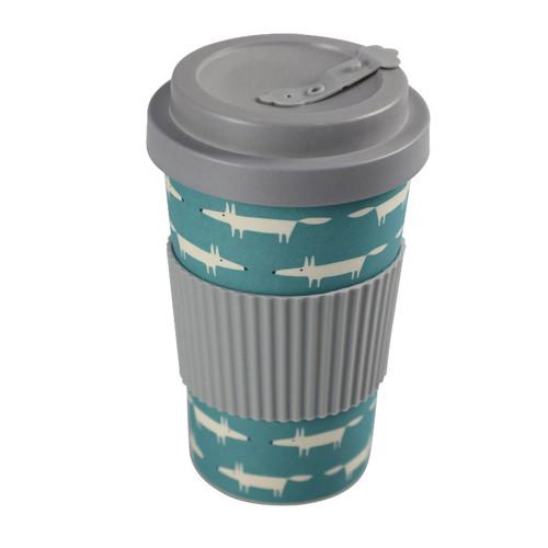 Scion Living BamBroo Mr Fox Travel Coffee Mug Teal