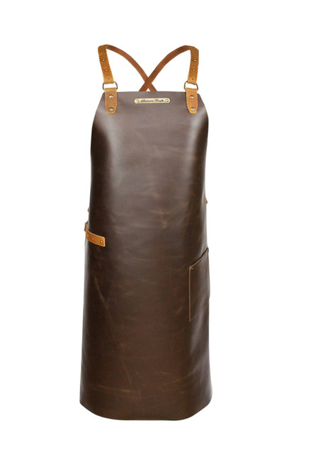 Stalwart Crafts Cross Strap Leather Apron - Brown